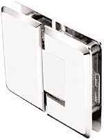 Ultimate 180 Series Polished Stainless Steel 180° Glass-to-Glass Hinge