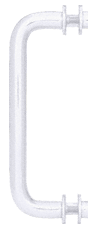 Satin Chrome 8 in. Single-Sided Solid Brass 3/4 in. Diameter Pull Handle with Metal Washers