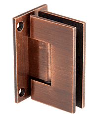 Geneva Antique Brushed Copper Wall Mount Full Back Plate Standard Hinge