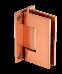 Geneva Brushed Copper Wall Mount Full Back Plate Standard Hinge