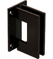 Geneva Black and Silver Wall Mount Full Back Plate Standard Hinge
