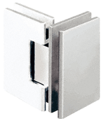 Geneva 092 Series Polished Nickel 90° Glass-To-Glass Hinges