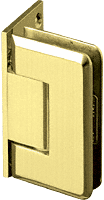 Pinnacle 044 Series Pol. Brass Wall Mount Offset Back Plate Standard Hinge