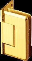 Pinnacle 044 Series Gold Plate Wall Mount Offset Back Plate Standard Hinge