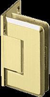 Pinnacle 044 Series Satin Brass Wall Mount Offset Back Plate Standard Hinge