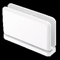 Senior Prima 01 Series White with Chrome Screws Top or Bottom Mount Hinge