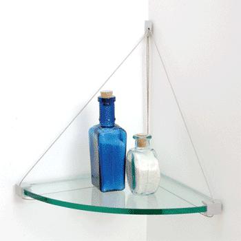 12 x 12 Cable Glass Corner Shelf